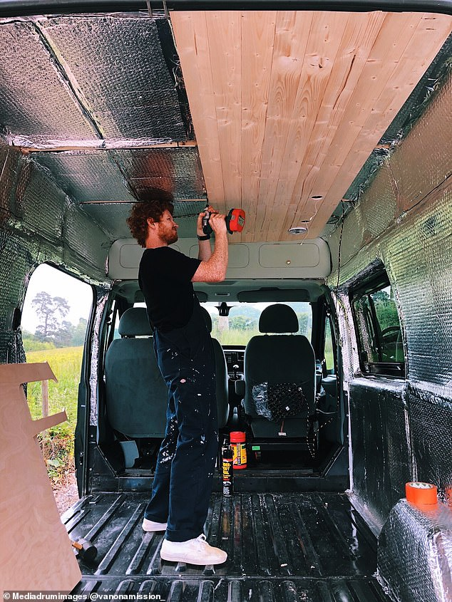 Before starting their van project, Grace and Charlie had almost no DIY experience, aside from some product design work Grace had completed at college