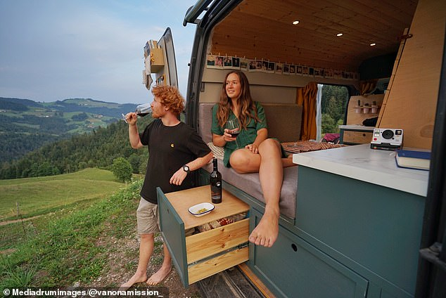 Grace said that on their travels they realised they preferred having worked on their van to the travelling they had undertaken