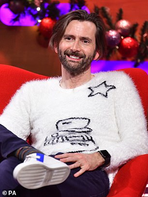 Co-star: He was joined by co-star David Tennant