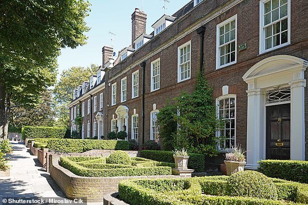 One of the more expensive streets is Ilchester Place in Holland Park in London (pictured)