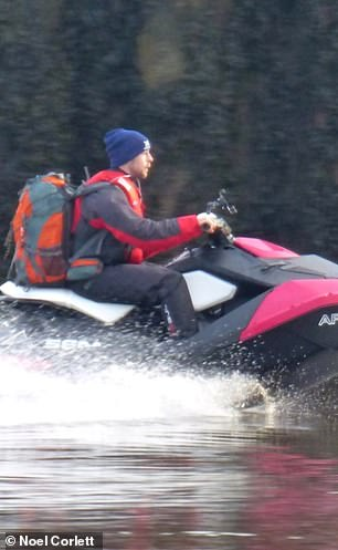 The 28-year-old roofer was sentenced to a month in prison for his foolhardy jet ski trip over the North Sea