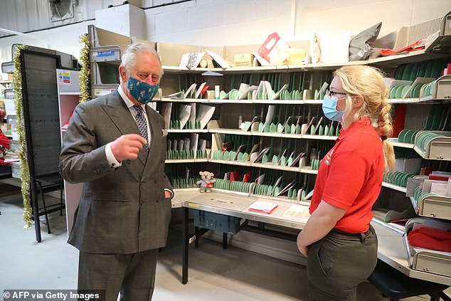 Prince Charles visited the Royal Mail in Cirencester to recognise the vital public services that the countrys postal workers provide, especially during the coronavirus pandemic and in the run-up to Christmas