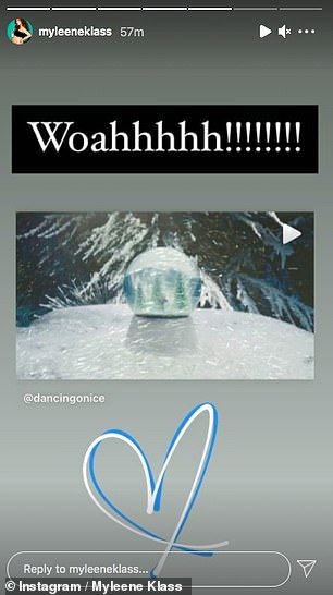 Exciting! Myleene shared her excitement for the upcoming series of Dancing On Ice's release date being announced on Instagram on Friday as she reposted the show's first trailer