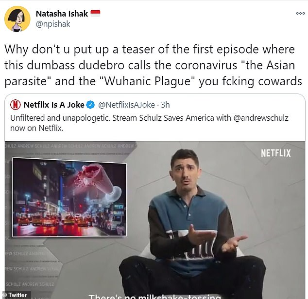 One user also blasted Netflix for tweeting a more innocuous trailer of the series after its release