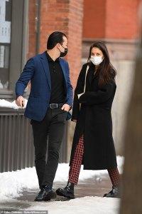 Katie Holmes looks chic as she enjoys a romantic birthday stroll with boyfriendEmilio Vitolo Jr.
