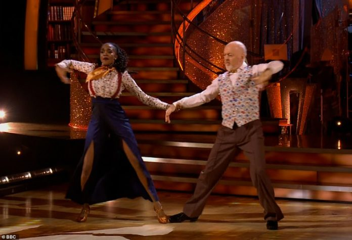 What a showman!Bill and Oti then delivered another performance of their energetic Quickstep to Talk To The Animals by Bobby Darin