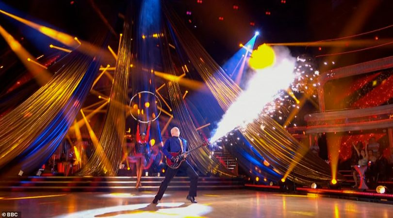 What drama! Earlier in the show Bill and Oti delivered a fierce Showdance complete with pyrotechnics, lifts, and plenty of drama, to Queen's The Show Must Go On with even Craig gushing it 'reeked of desperation and he loved it'