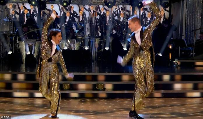 What a show!For their third and final dance, each couple were tasked with reprising their favourite dance of the series, which for HRVY and Janette was their American Smooth to One from A Chorus Line, scoring 30 out of 30