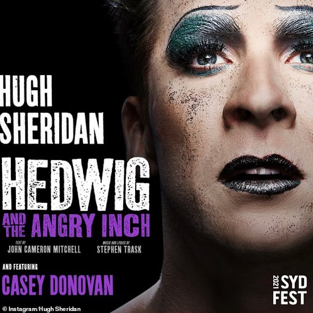 Leading role: Hugh was hospitalised following the backlash surrounding his casting as a transgender character in the play Hedwig and the Angry Inch