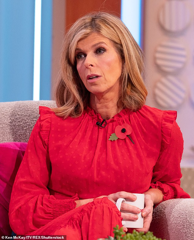 Upsetting time:Kate Garraway has said she hopes to form a bubble with husband Derek Draper so she can see him on Christmas Day amid his coronavirus battle (pictured in November)