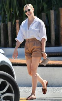 Jasmine Yarbrough looks stylish as she steps out in Noosa during idyllic family getaway
