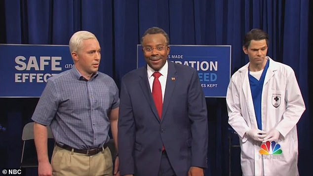 The sketch ended with an appearance by Housing and Urban Development Secretary Ben Carson, played by Kenan Thompson