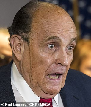 Rudy Giuliani as seen in real life last month