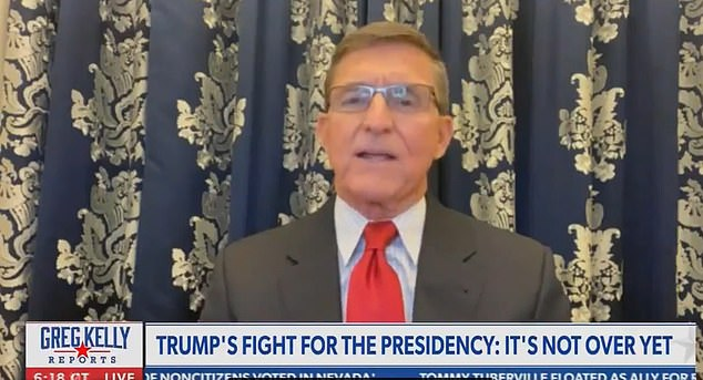 `` He could take military capabilities, and he could put them in states and basically run an election in each of those states, '' said former national security adviser Mike Flynn, who said Trump could declare martial law.