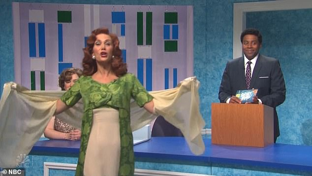 Oldie but goodie: Wiig revived a couple of her most memorable SNL characters, as she made her fourth appearance as celebrity guest host of the variety show