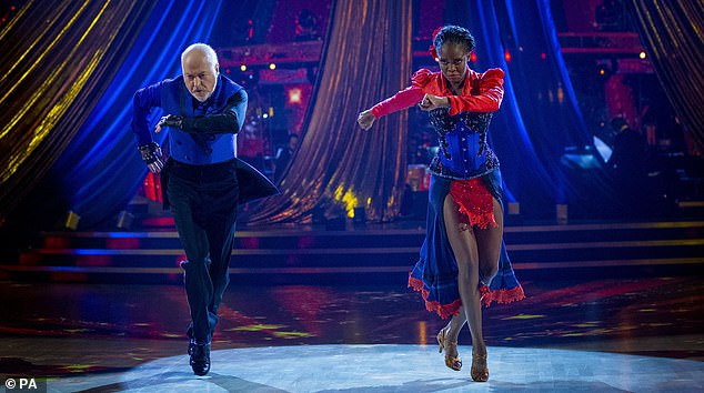 What drama! Earlier in the show Bill and Oti delivered a fierce Showdance complete with pyrotechnics, lifts, and plenty of drama, to Queen's The Show Must Go On