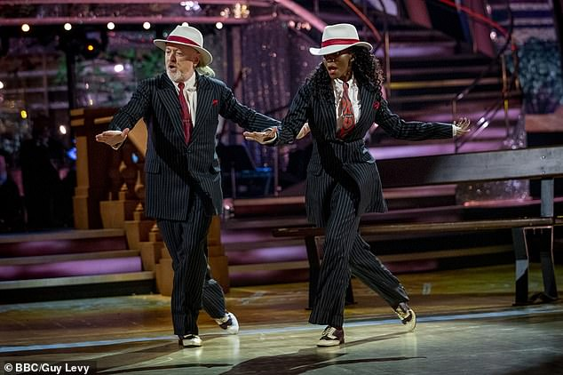 Iconic: For their final dance of the series, Bill and Oti performed their Couple's Choice to Rapper's Delight by The Sugarhill Gang, which sent fans into a frenzy when they danced it in Week Four