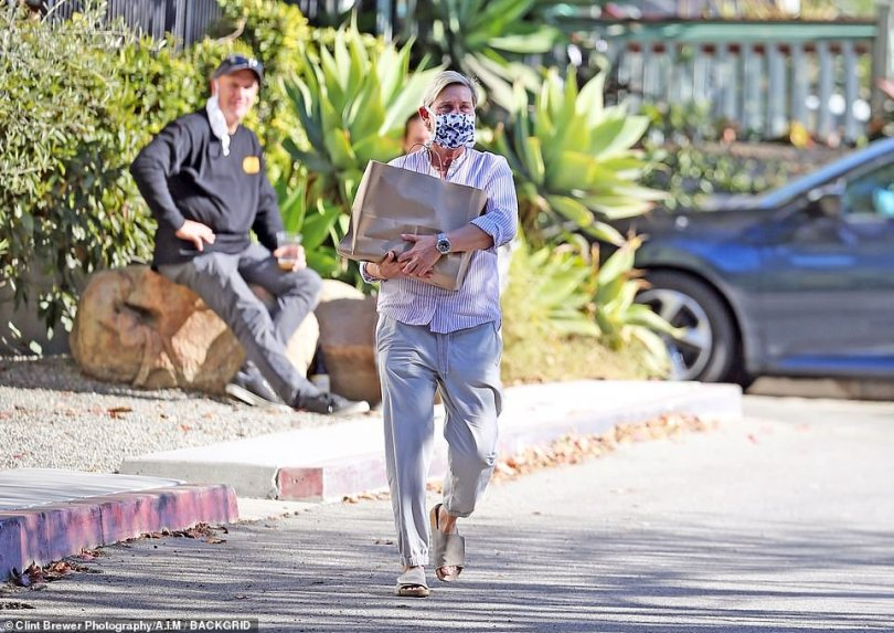The talk-show host was seen picking up some home goods from Garde in Montecito on Saturday