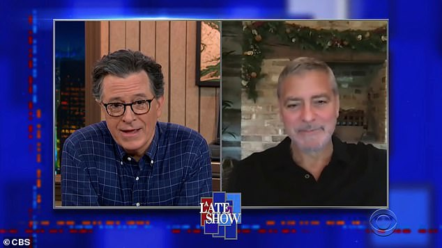 George from London:Clooney did the interview from his home in London, and joked that he was trying to stop his kids from completely assimilating as Brits, joking that his kids, three-year-old twins Alexander and Ella wanted to leave out milk and mince pie for Santa, instead of milk and cookies