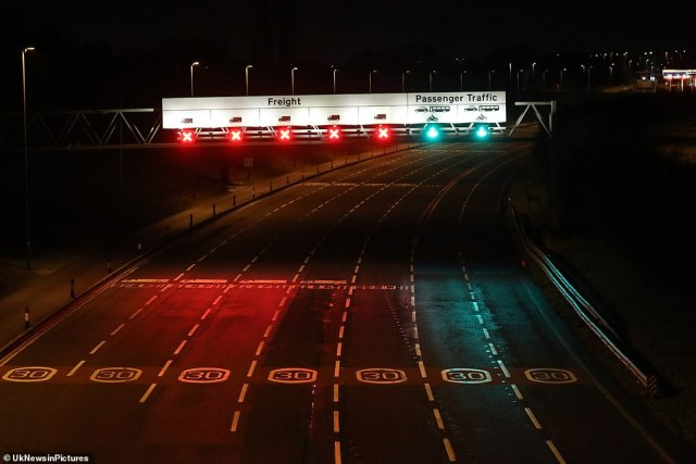 Opearation Stack was being implemented on the M20 in Kent last night - when parts of the motorway are set aside to park lorries queuing for Channel ports