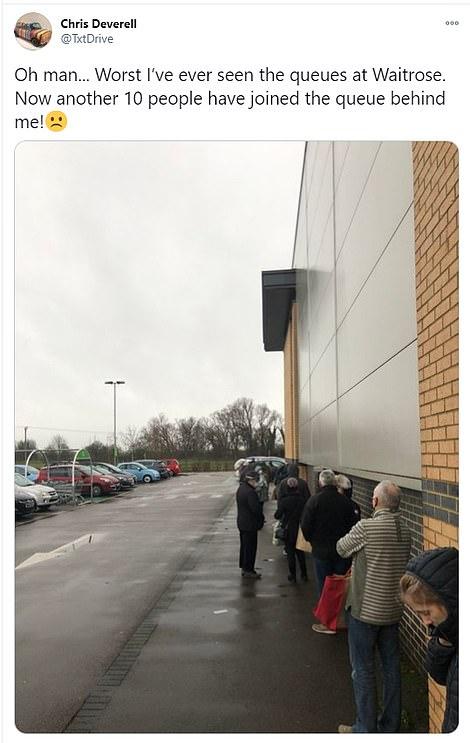 Waitrose shoppers yesterday morning