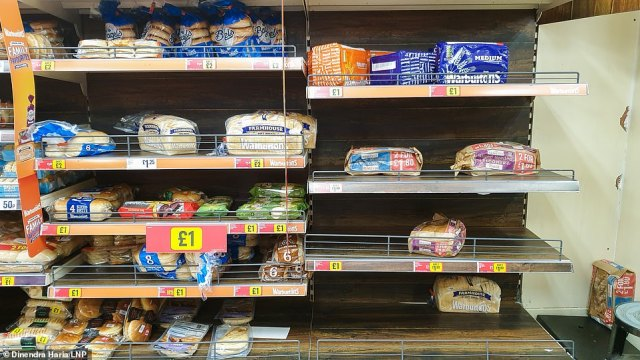 Shelves were emptying fast in an Iceland store in north London this morning as shoppers rushed to buy festive groceries