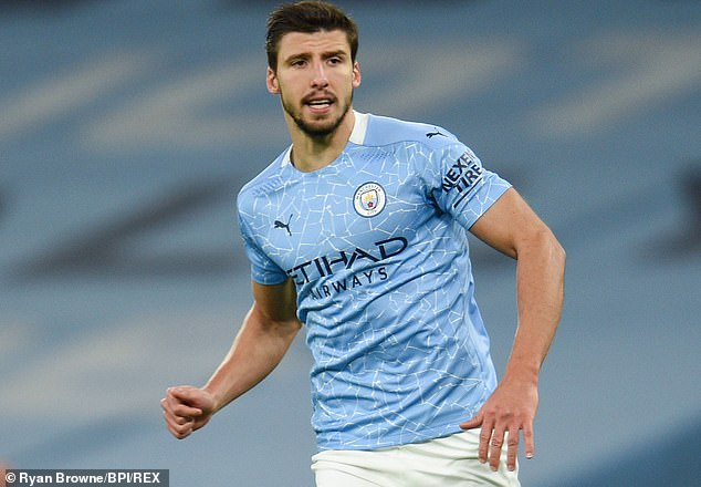 Manchester City centre back Ruben Dias is second on the minutes list of outfield players