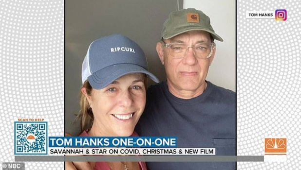 Hanks revealed his and Wilson's health status on March 11, the same day NBA star Rudy Goebert tested positive for the virus, shutting down the NBA for months.
