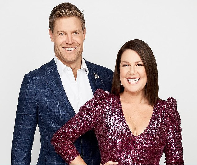 Tune in: I'm A Celebrity continues on Wednesday from 7:30pm on Channel 10. Pictured: hosts Dr Chris Brown and Julia Morris