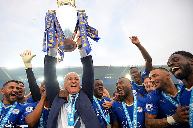 Claudio Ranieri (middle) won the league with Leicester City against all the odds in 2016