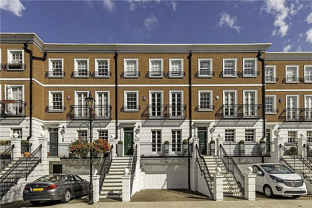 The £6million home in St Mary's Place, Kensington, at the centre of Mr Derhalli's legal battle
