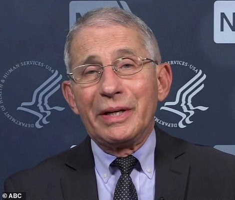 Dr Anthony Fauci on Tuesday morning said it was under 'active discussion' that testing on transatlantic flights be mandated