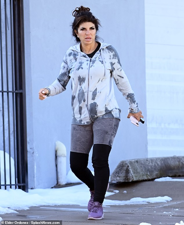 Putting in work: On Monday, Teresa Giudice was spotted leaving a gym in New Jersey not long after going public regarding her new relationship with Luis Ruelas