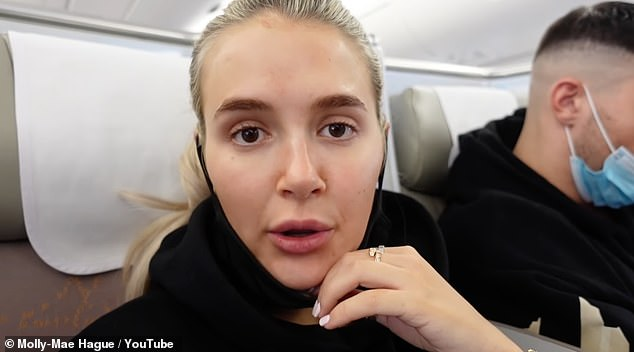 Unimpressed: Molly-Mae Hague and Tommy Fury have been called out by YouTube viewers for not wearing masks on their Dubai break following the release of her latest vlog