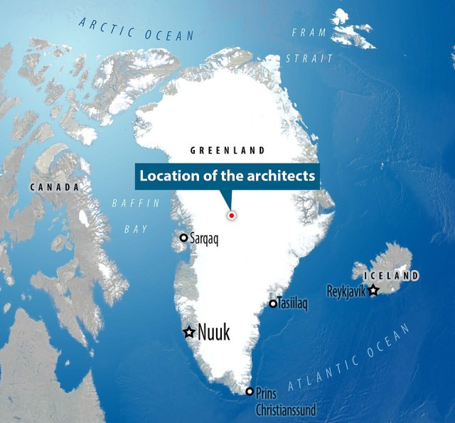 The two space architects spent 100 days up in Greenland - one month to set up camp (although it only took one day to inflate the habitat) and 60 days inside Lunark
