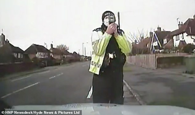 Luke Vicarey was seen speding past an officer doing a speed check at Bexhill-on-Sea, East Sussex on November 20