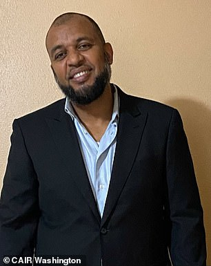 Mohamed (pictured) and his companion were re-booked on two separate flights