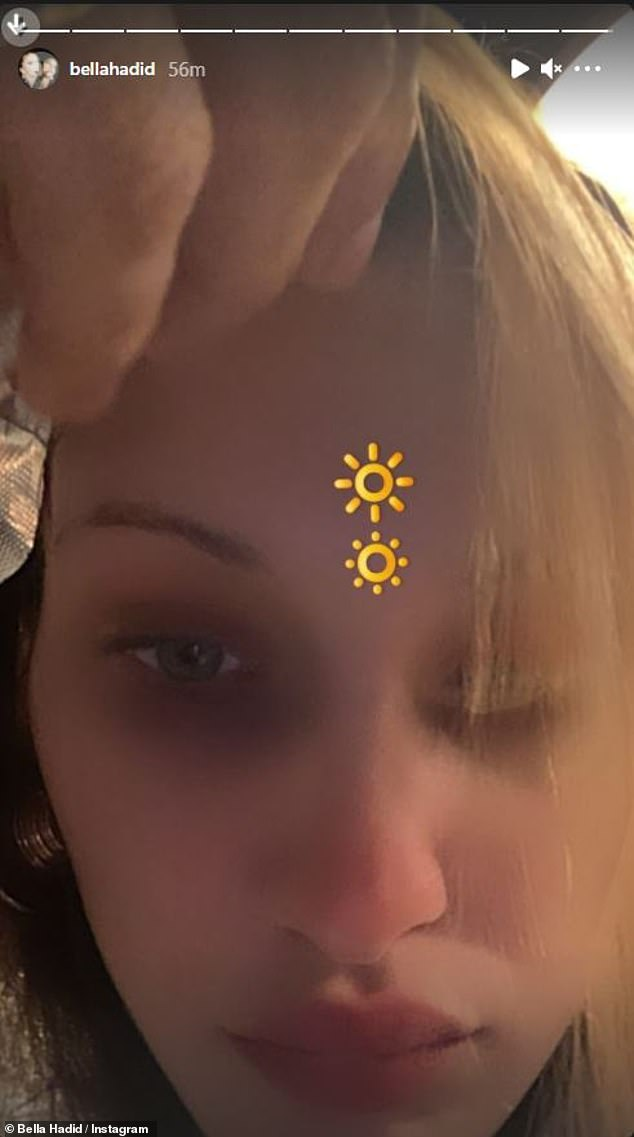 A special occasion: On Monday night, Hadid made a post to her Instagram account expressing her feelings about the Saturn-Jupiter convergence; she later shared a selfie on her story