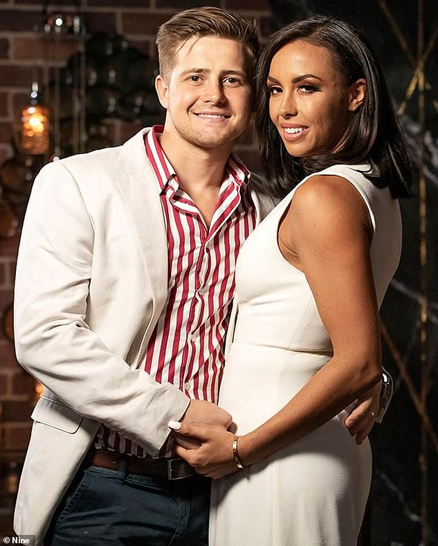 Making a change: Married At First Sight bride Natasha Spencer (pictured with her ex-'husband' Mikey Pembroke) has become the latest reality star to debut a dramatic new look