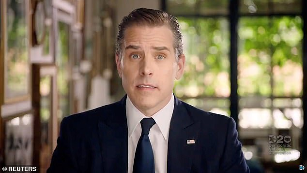 In October, The New York Post published emails and documents from a hard drive of laptop that was left at a Wilmington computer repair store that reportedly belonged to Hunter Biden (pictured). The contents of the hard drive were given to The Post by Rudy Giuliani