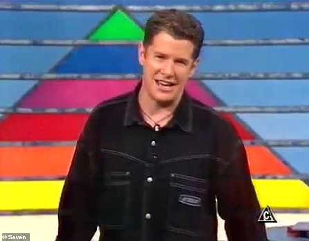 Remember him? Nineties TV star James Sherry looked hardly recognisable during a recent appearance on ABC's Hard Quiz. Pictured hosting A*mazing in the '90s