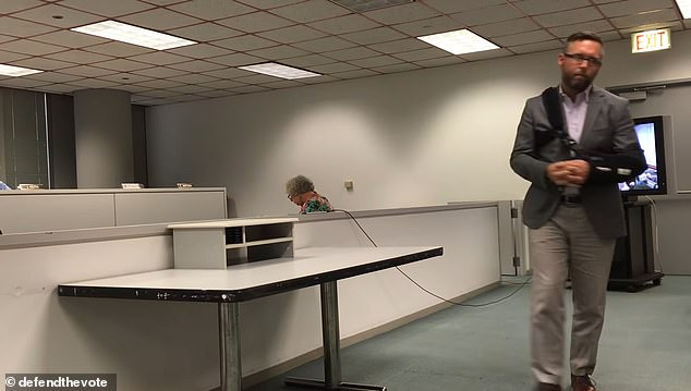 Coomer says he has gone into hiding in the wake of unfounded allegations the presidential election was rigged.The suit says those claims have led to death threats and done 'untold damage to his reputation as a national expert on voting systems', NPR reports