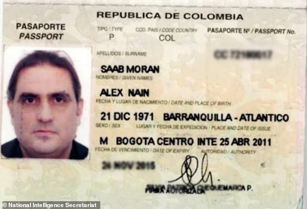 Saab's passport was circulated among South American intelligence agencies