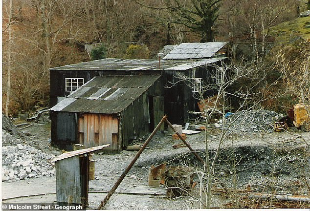 It is believed there could be as many as 500,000 ounces of gold in the area, and with gold currently selling at just under £1,400-an-ounce, that would be worth a staggering £700m. Buildings near the mine entrance in the 1980s