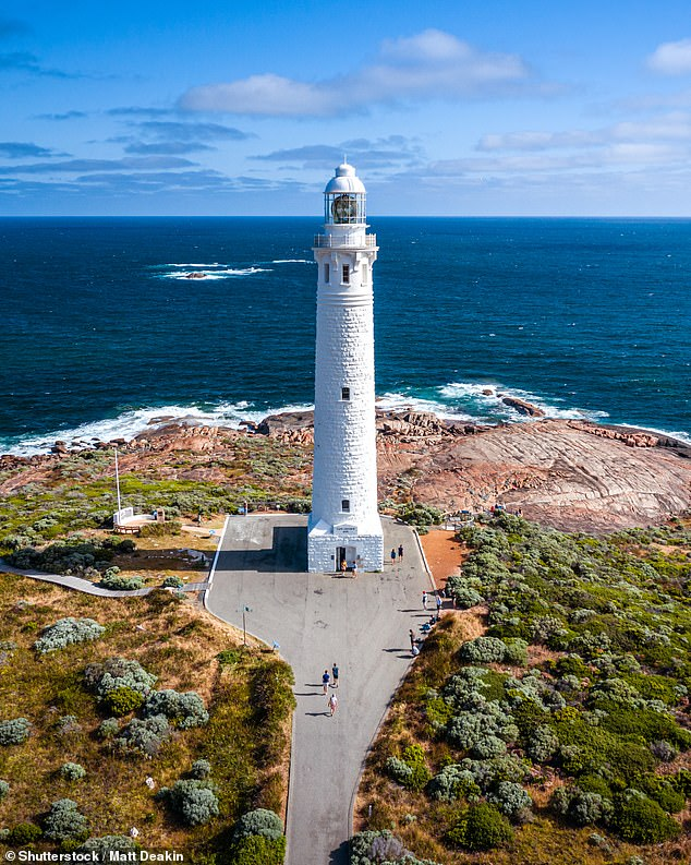 The ghost of 'Happy Harry' is known to roam the grounds of the Lighthouse Keepers Cottage, near the Cape Naturaliste Lighthouse (pictured)