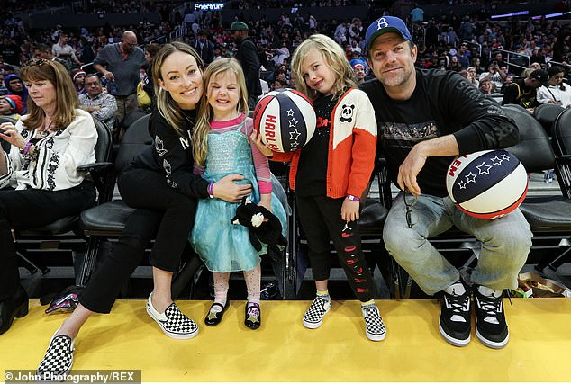 Family:The couple were in a relationship for nine years and share two children, son Otis, six, and daughter Daisy Josephine, four; seen in February at theHarlem Globetrotters game in LA