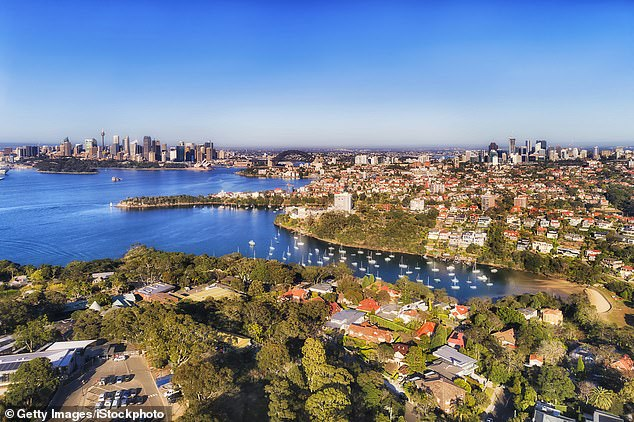 Rich expats returning home are driving Australian property prices to record highs and they are willing to spend $40million for a house in an upmarket suburb. Pictured is Mosman on Sydney's Lower North Shore