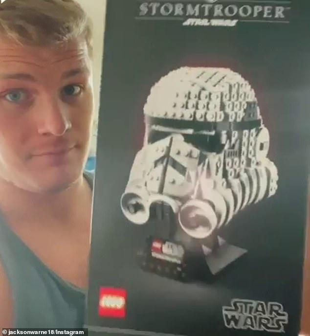 Promoting:The 21-year-old son of cricket legend Shane Warne promoted Lego on Instagram, by sharing a video of himself building characters from Star Wars using the building blocks