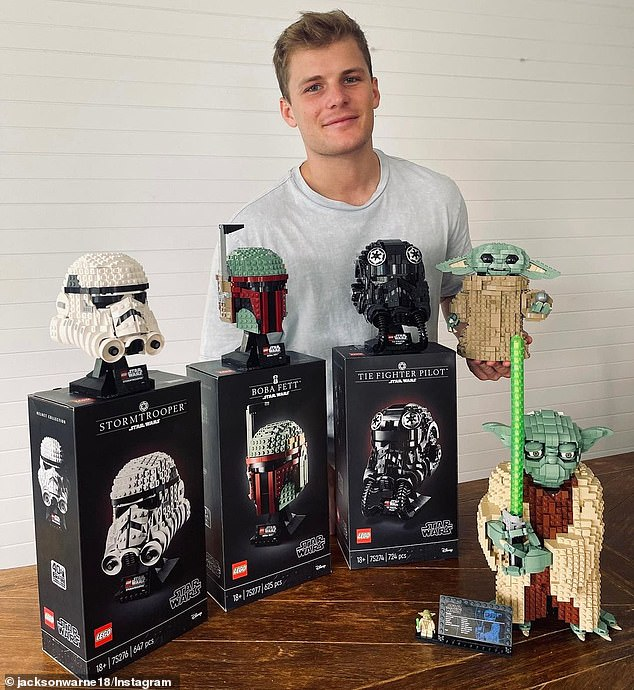 Influencer:SAS Australia recruit Jackson Warne (pictured) turned influencer as he spruiked Lego on Instagram on Wednesday