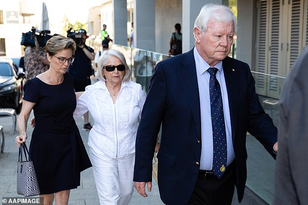 Denis Glennon and Una Glennon (right), parents of Ciara Glennon with their daughter Denise Glennon (left) finally get justice for Ciara at Edwards' sentencing on Wednesday
